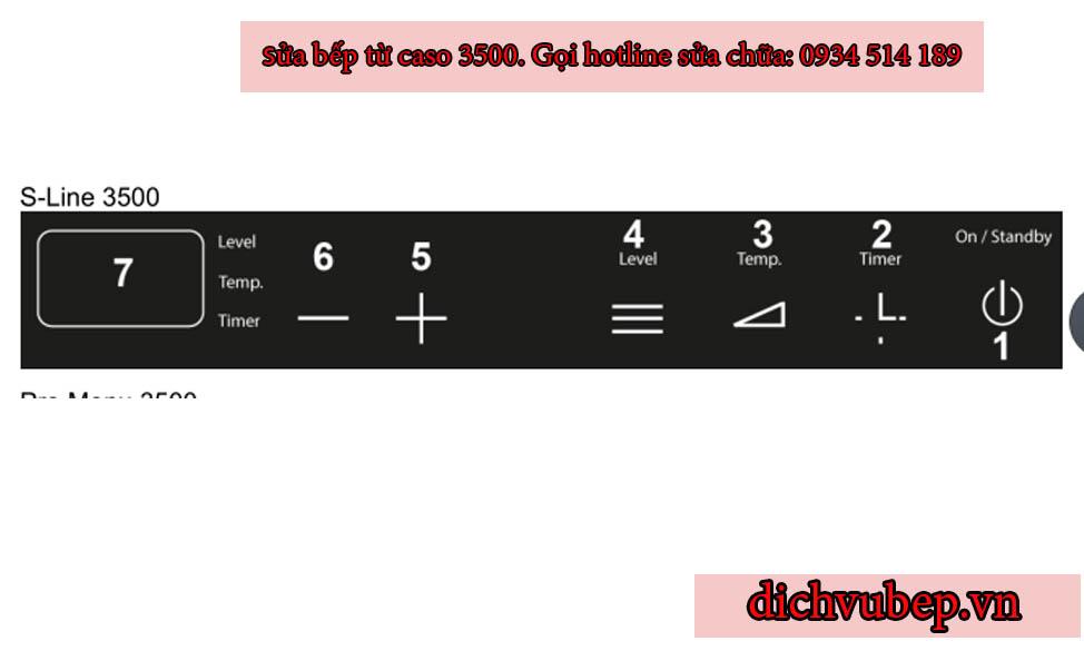 sử dụng bếp từ Đức Caso 3500 S-Line 3500