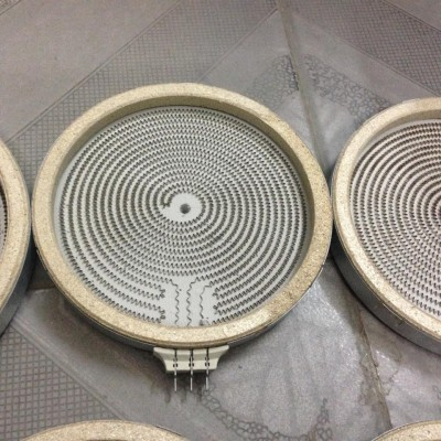 Mâm nhiệt bếp hồng ngoại 20cm - 2 vòng nhiệt( 3 chân cắm)