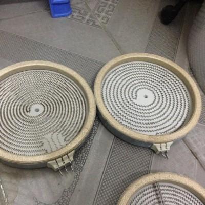 Mâm nhiệt bếp hồng ngoại 23cm - 2200w - 1 vòng nhiệt ( 2 chân cắm)